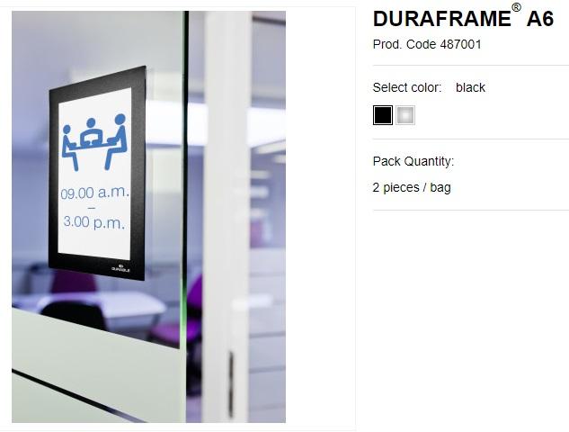 DURAFRAME® A6 samolepljivi magnetni ram