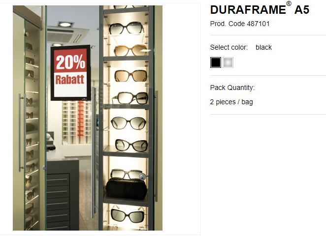 DURAFRAME® A5 samolepljivi magnetni ram