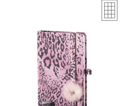 Notes Wild Cat A6 roze karo