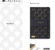 De-lux agenda Art deco Black & Gold