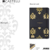 De-lux agenda Baroque Black & Gold