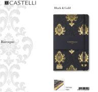 De-lux agenda Baroque Black & Gold