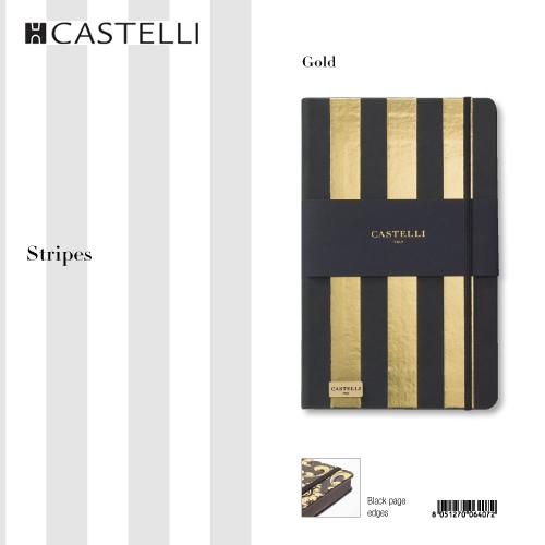 De-lux agenda Stripes Gold