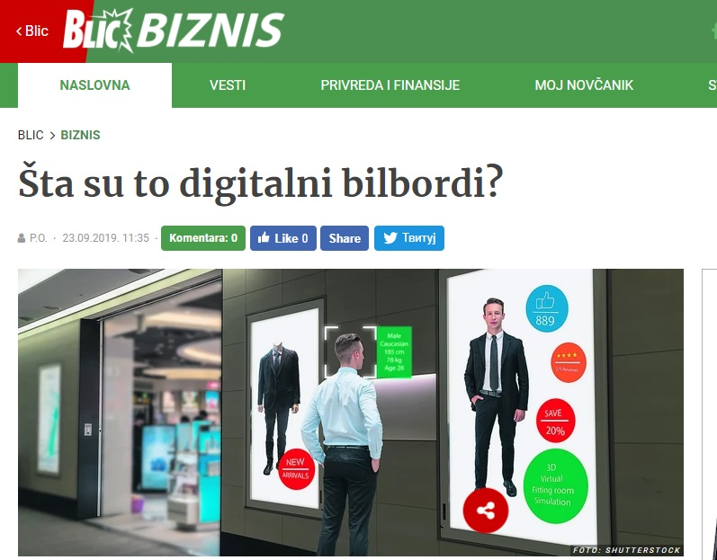 Šta su to digitalni bilbordi?